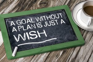a goal without a plan is just a wish on blackboard