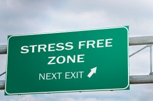 Stress Free Zone Next Exit, Creative Highway Sign