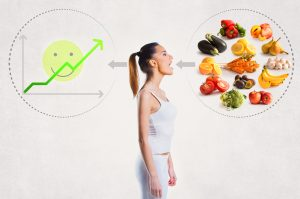 Young woman and a healthy diet concept